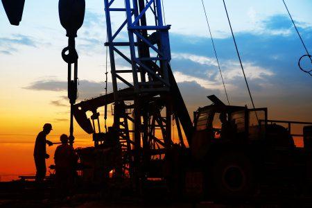 Oil Drill at Sunrise